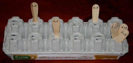 egg carton 8 times table