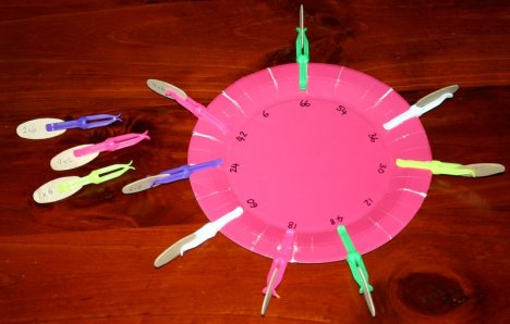 pink plate plastic pegs 6 times
