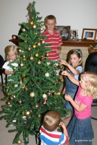 decorating the tree 2012