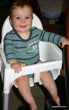 Asher in his highchair