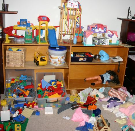 Perhaps the mess is driving you insane. Find a home organisation book, train your children to do chores and de-clutter!