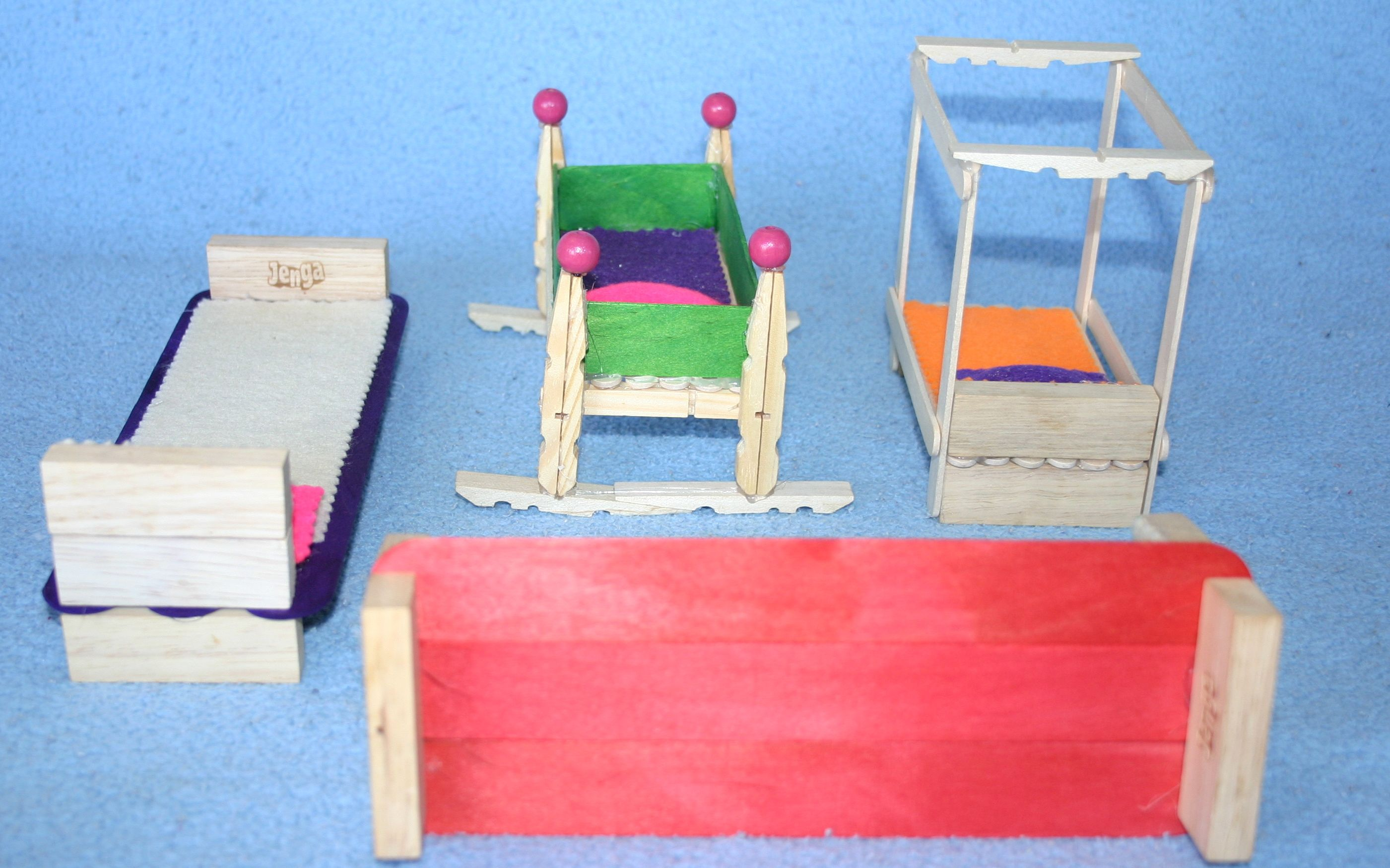 How to make doll furniture from scrap materials