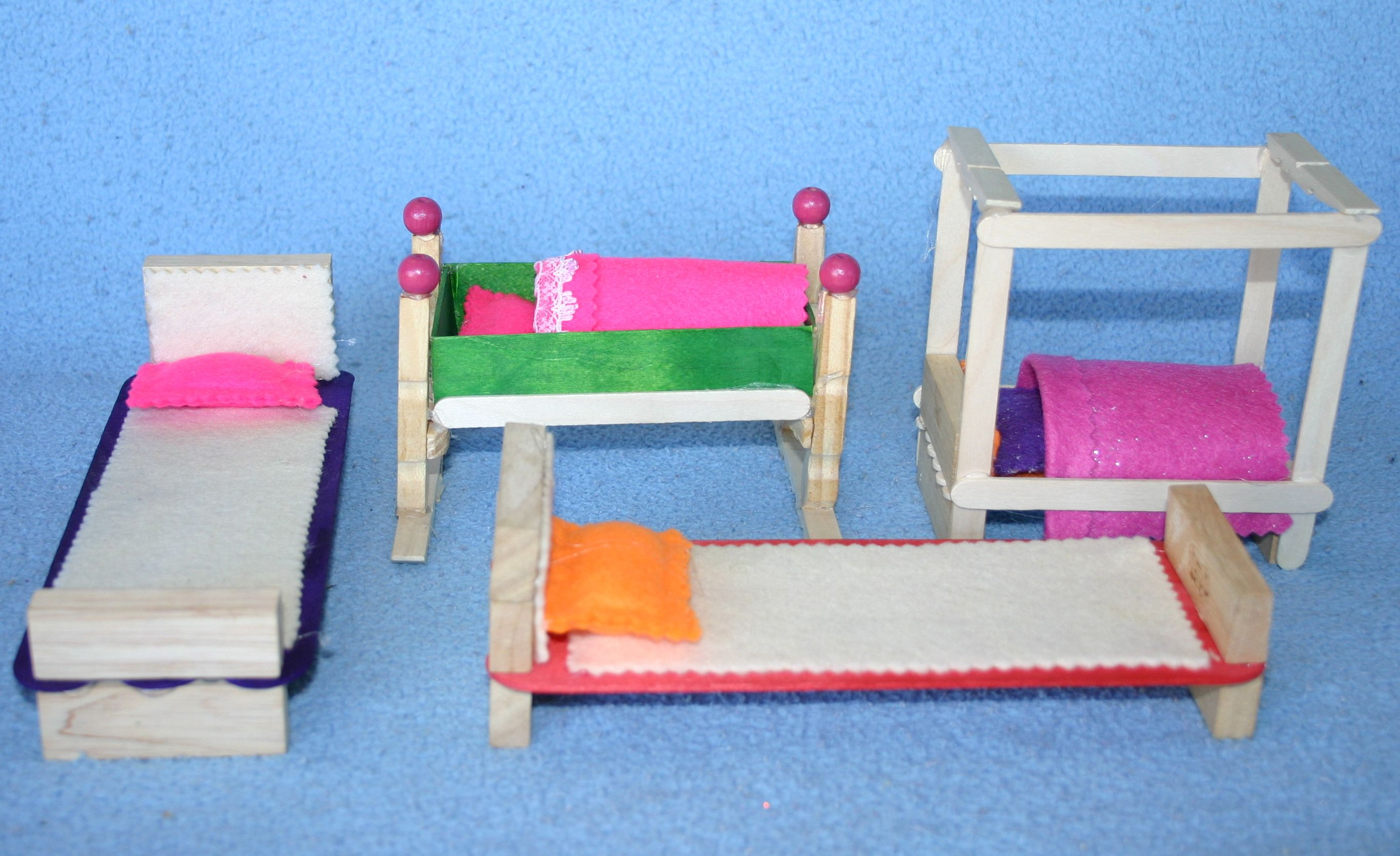 Wooden clothespeg dolls house furniture  angathome