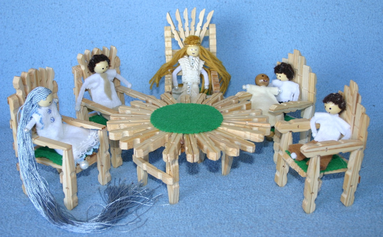 Crafts on Wooden Clothespin Rocking Chair