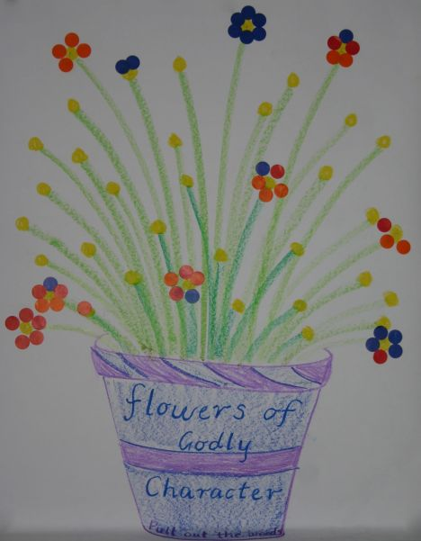 flower pot Godly character reward chart IMG_0076
