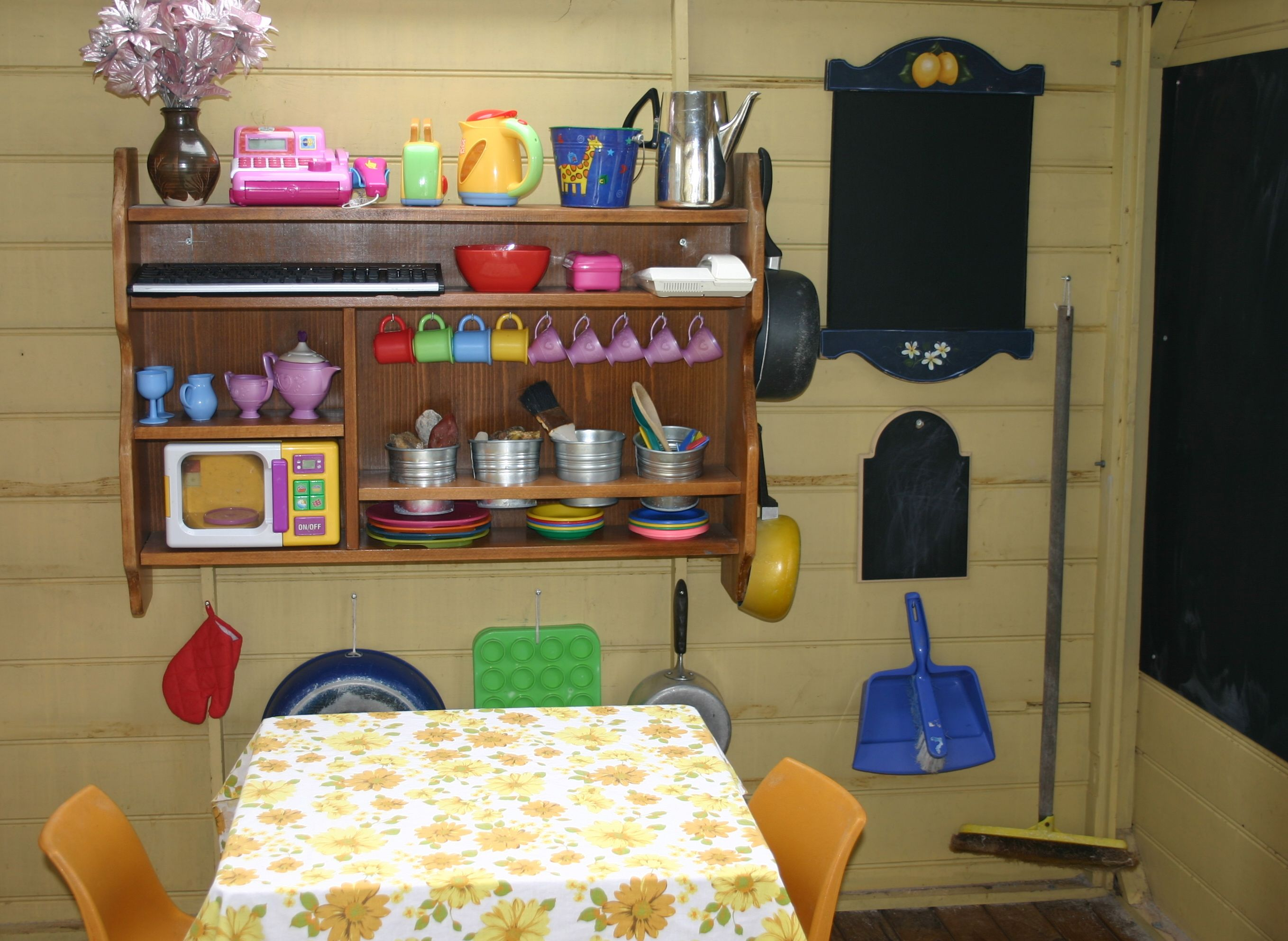 Small Bookcase Kitchenette Or Shelves Set Them At Childs Height
