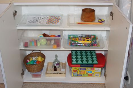toddler school cupboard